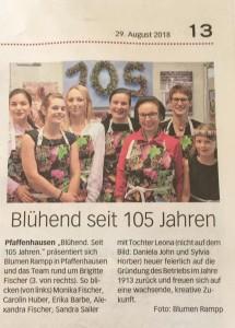 BLUMEN-RAMPP_105Jahre_Zeitungsartikel