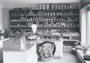 Ladentheke in den 50er Jahren